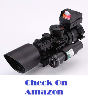 IRON JIA'S 3-10X42 Tactical Rifle Scope Green/Red (Optional) Laser