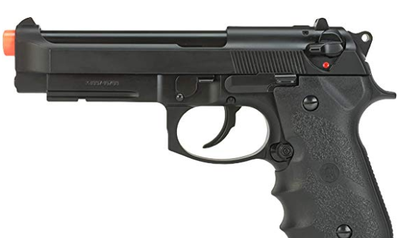 Evike KJW Full Metal M9A1 Gas Blowback Airsoft Pistol - Black