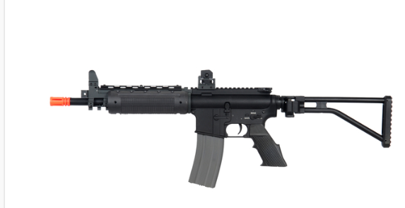 A&K LR300 Short Commando Full Metal Folding Stock M4 Airsoft Rifle
