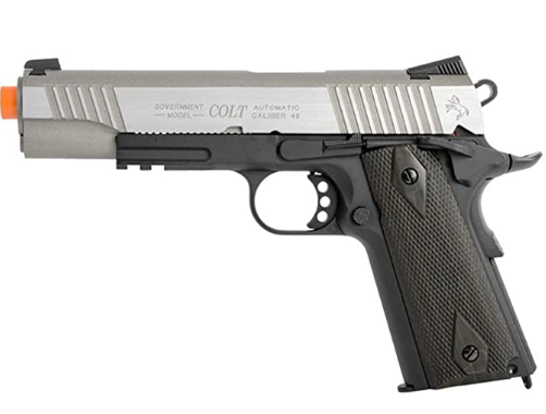 Colt 1911 CO2 Full Metal Airsoft Pistol with Hop-Up, 360 FPS, Two-Tone